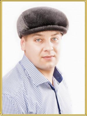 """Кепка из нерпы мужская """"Реглан-2"""""""