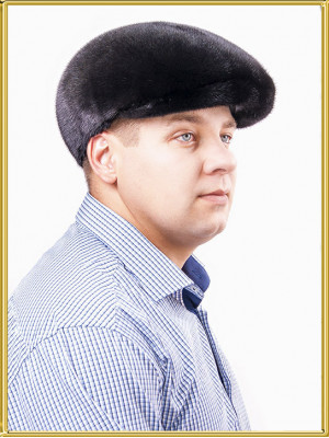 """Норковая кепка мужская """"Леон"""""""