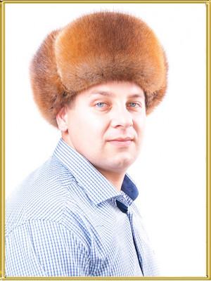 """Ондатровая шапка ушанка мужская """"Охотник"""""""