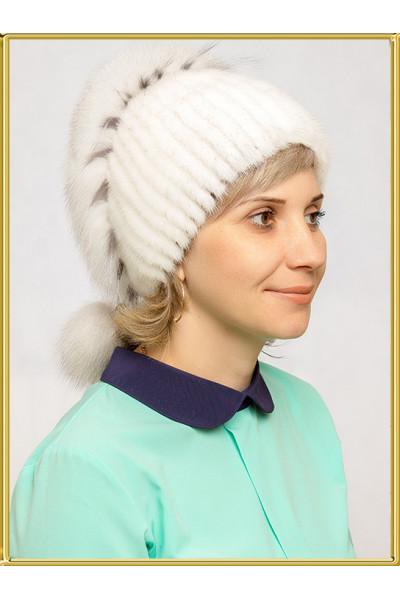"""Норковая шапка """"Эля"""""""