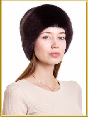 """Норковая шапка """"Эмили-2"""""""