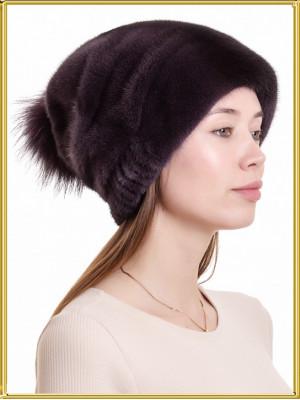 """Норковая шапка """"Лыжница-2"""""""