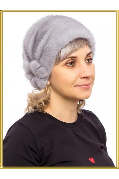 """Норковая шапка женская """"Шарик"""""""