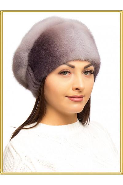"""Женская шапка из норки """"Зара-8"""""""